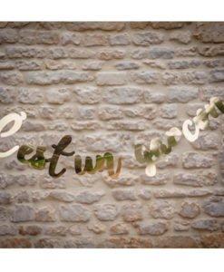 Guirlande lettres C'est un garçon Babyshower