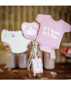 Kit Photobooth 11 Pieces Baby Shower Fille