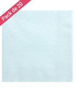 Serviette en papier bleue