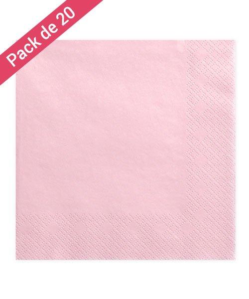 Serviette en papier rose