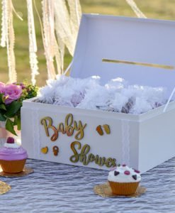 Autocollant Baby Shower Or