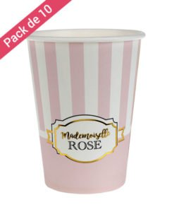 Gobelets Roses Collection Chou Anniversaire ou Babyshower