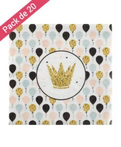 Serviettes Papier Intemporel Anniversaire