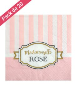 Serviettes Papier Roses Collection Chou