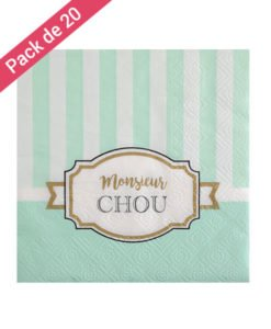 Serviettes Papier Vertes Collection Chou