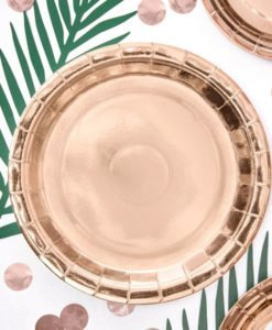 6 Grandes Assiettes Rose Gold