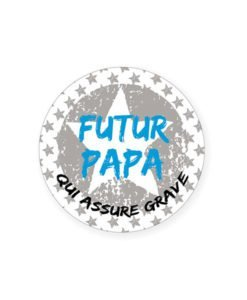 Badge Futur Papa Babyshower