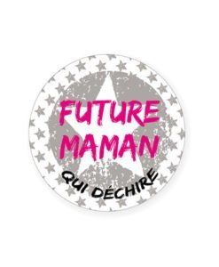 Badge Future Maman Babyshower