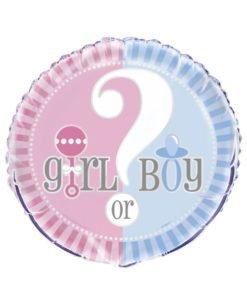 Ballon Geant 45 cm Boy or Girl