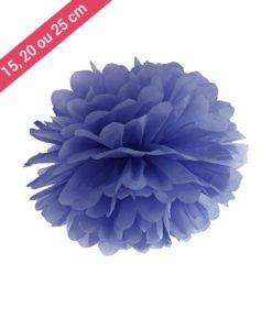 Pompon Papier Bleu Foncé