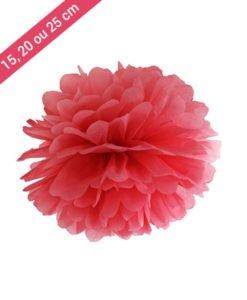 Pompon Papier Rouge
