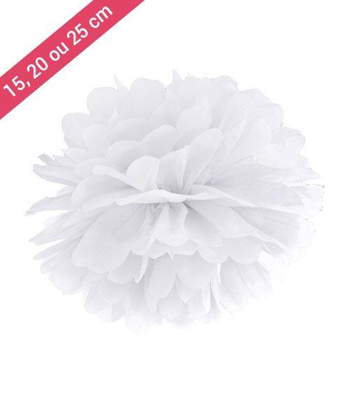 Pompon Papier Blanc