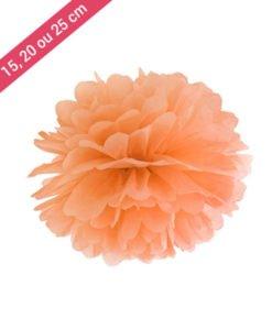 Pompon Papier Orange