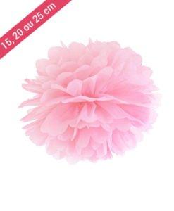 Pompon Papier Rose Clair