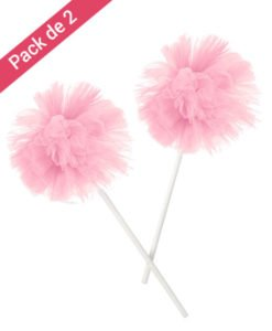 Pompons Tulle Rose sur Pic