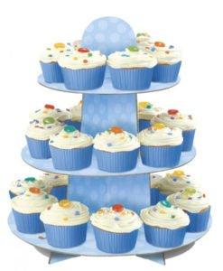 Stand A cup Cake Bleu