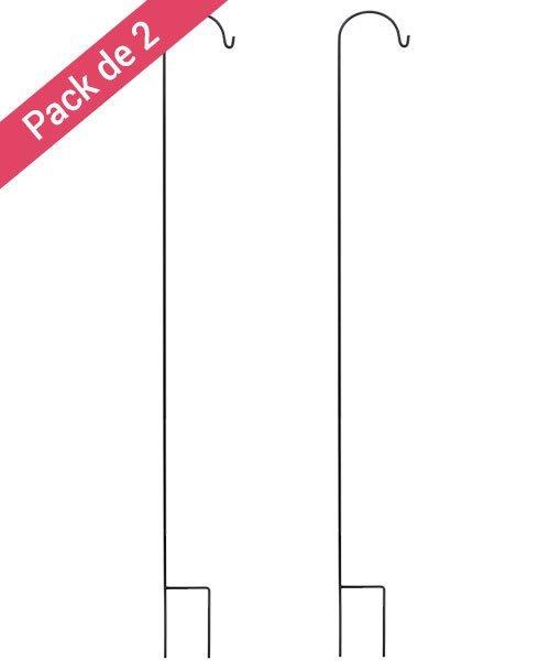 Piquets Mariage Noirs 150 cm