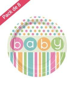 Grandes Assiettes 18 cm Baby Pastel