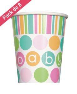 Gobelets en Carton Baby Pastel