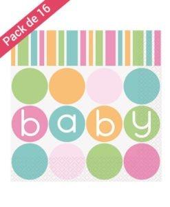 Serviettes en Papier Baby Pastel