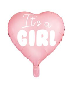Ballon Coeur Baby Shower fille