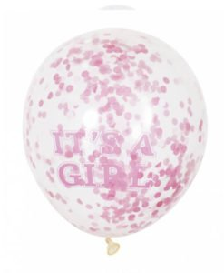 Ballons Confettis It s a girl