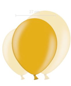 Ballon Couleur Or 27 cm