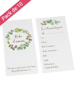 Carte Pronostique Baby Shower