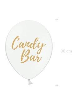 Ballon Blanc Candy Bar Mariage