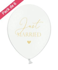 Ballon Mariage Just Married