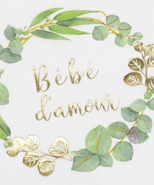 Serviettes Papier Baby Shower Bébé D'Amour