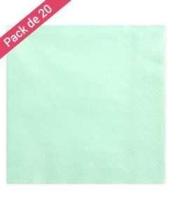 20 Serviettes Green Mint
