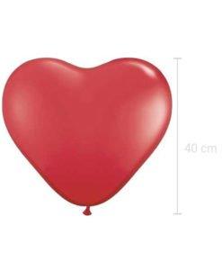 Ballon Rouge en forme de Coeur
