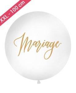 Ballon XXL Mariage Or