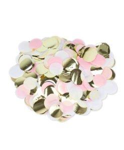 Confettis Roses Blancs et Or