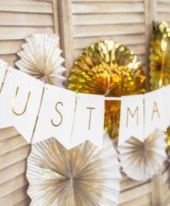 Guirlande JUST MARRIED Blanc et OR