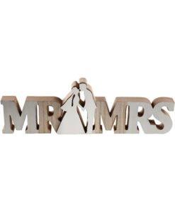 Lettres Bois Mr et Mrs Mariage