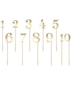 Numéros de Table à Piquer Or