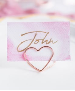Marque Place Mariage Coeur Rose Gold