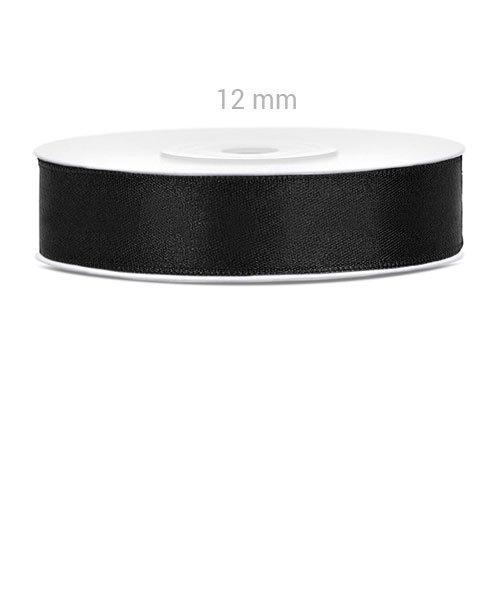 Ruban Noir Satin 12 mm
