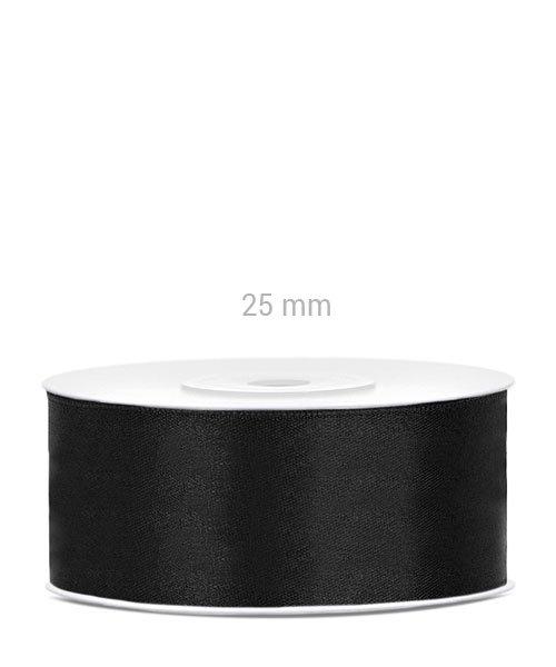Ruban Noir Satin 25 mm