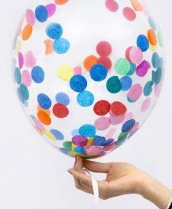 Ballons Confettis Multicolores