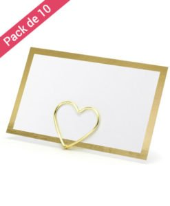 Cartes Marque Place Blanches et Or