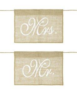 Fanions Chaises Mr et Mrs Jute