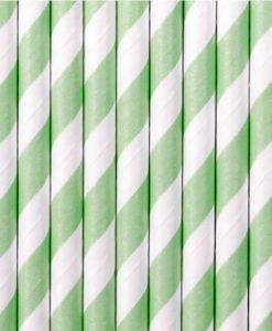 Pailles blanches et Green Mint