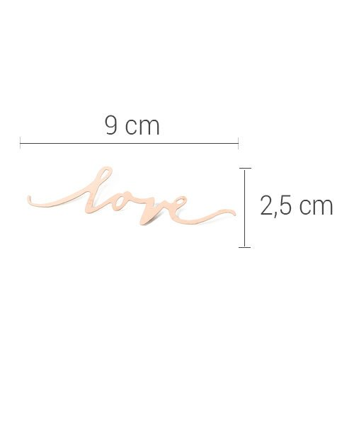 Confettis LOVE Rose Gold