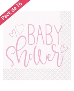 Serviettes Papier Baby Shower Fille