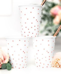 Gobelets Blancs et Rose Gold
