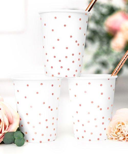 Gobelets Blancs et Rose Gold