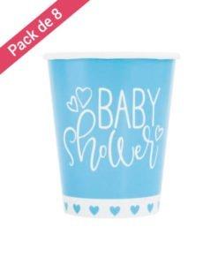 Gobelets Bleus et Blancs Baby Shower